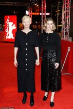 Tilda Swinton and Honor Swinton Byrne In Chanel @ 'The Souvenir' Berlin International Film Festival Premiere