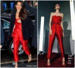 Amal Clooney In Sergio Hudson @ Meghan Markle's Baby Shower