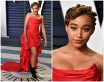 Amandla Stenberg  In Vivienne Westwood @  2019 Vanity Fair Oscar Party