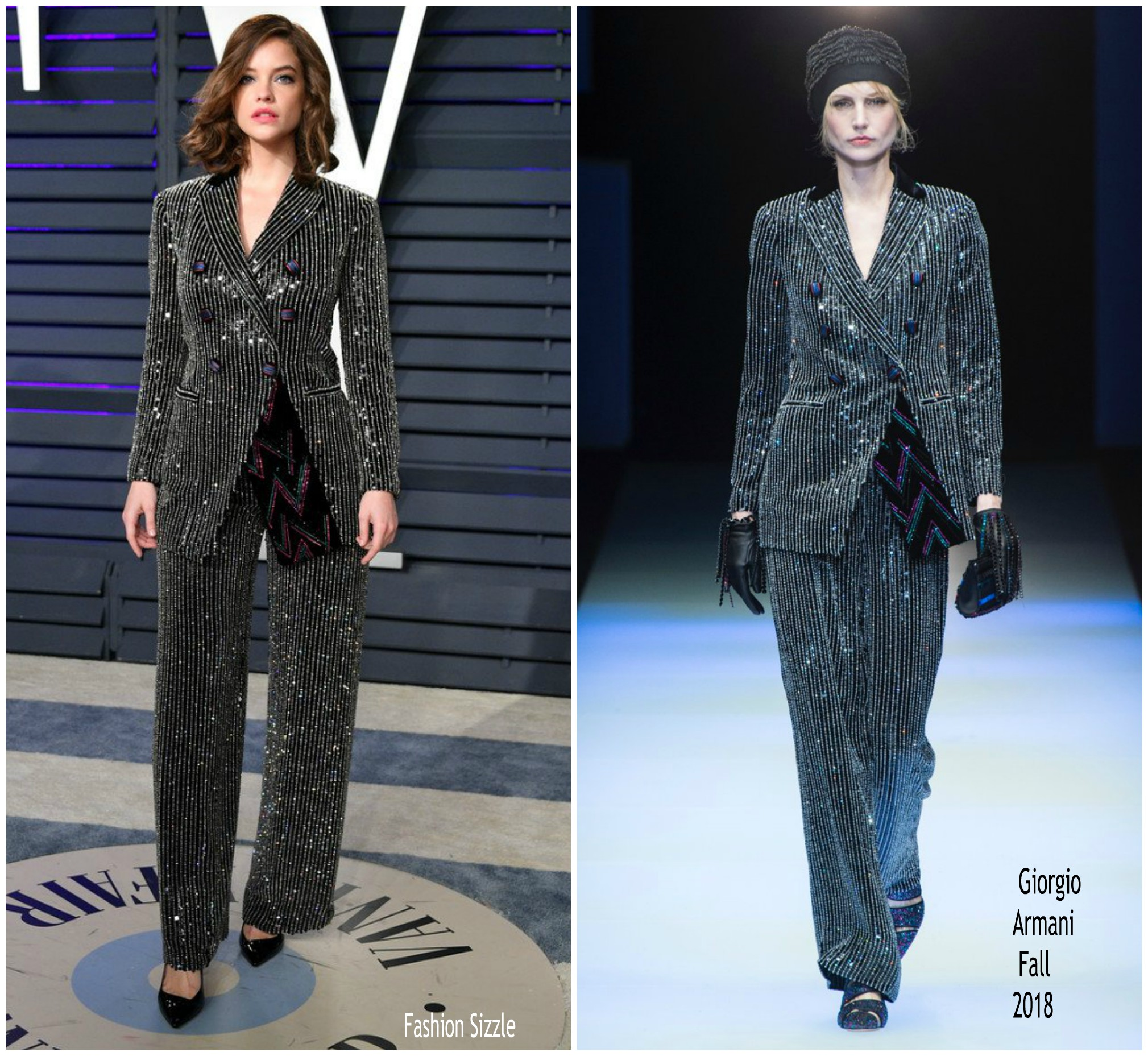 Barbara Palvin In Giorgio Armani 2019 Vanity Fair Oscar Party Fashionsizzle