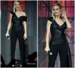 Brie Larson In Oscar de la Renta @ Captain Marvel Talent Tour Fan Event