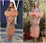 Chrissy Teigen  In Marchesa @ 2019 Vanity Fair Oscar Party