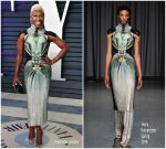 Cynthia Erivo  In Mary Katrantzou   @ 2019 Vanity Fair Oscar Party
