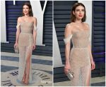 Emma Roberts  In Yanina  Couture  @  2019 Vanity Fair Oscar Party