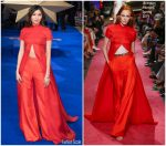 Gemma Chan in Brandon Maxwell @ 'Captain Marvel' London Premiere