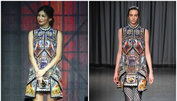 gemma-chan-in-mary-katrantzou-captain-marvel-talent-tour-fan-event