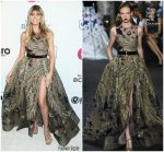 Heidi Klum In Elie Saab  Couture  @ 2019 Elton John AIDS Foundation Academy Awards Viewing Party