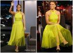 Jennifer Lopez In Maria Lucia Hohan @ Jimmy Kimmel Live!