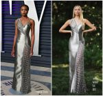 Kiki Layne In Atelier Versace @ 2019 Vanity Fair Oscar Party