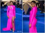 Lashana Lynch In Michael Costello @ 'Captain Marvel' London Premiere