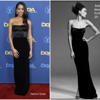 laura-harrier-in-brandon-maxwell-2019-directors-guild-of-amrica-awards