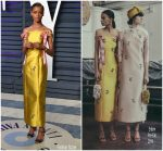 Letitia Wright  In Erdem @ 2019 Vanity Fair Oscar Party