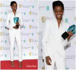 Letitia Wright In Stella McCartney  @  2019 BAFTA Awards