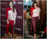 Lily Collins In Hellessy @ 2019 Winter TCA Tour