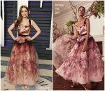 Lily Collins  In Marchesa  @ 2019 Vanity Fair Oscar Party