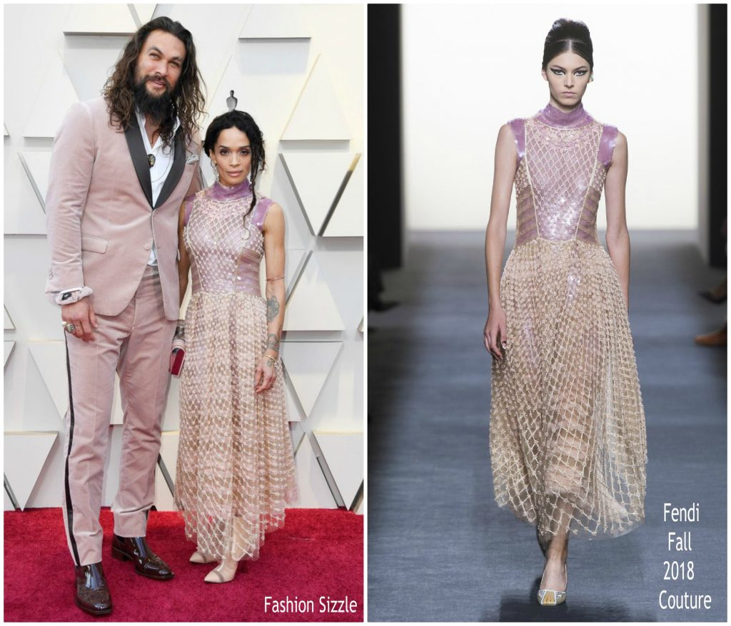 Jason Momoa Pink: Lisa Bonet In Fendi Couture & Jason Momoa In Fendi Mens