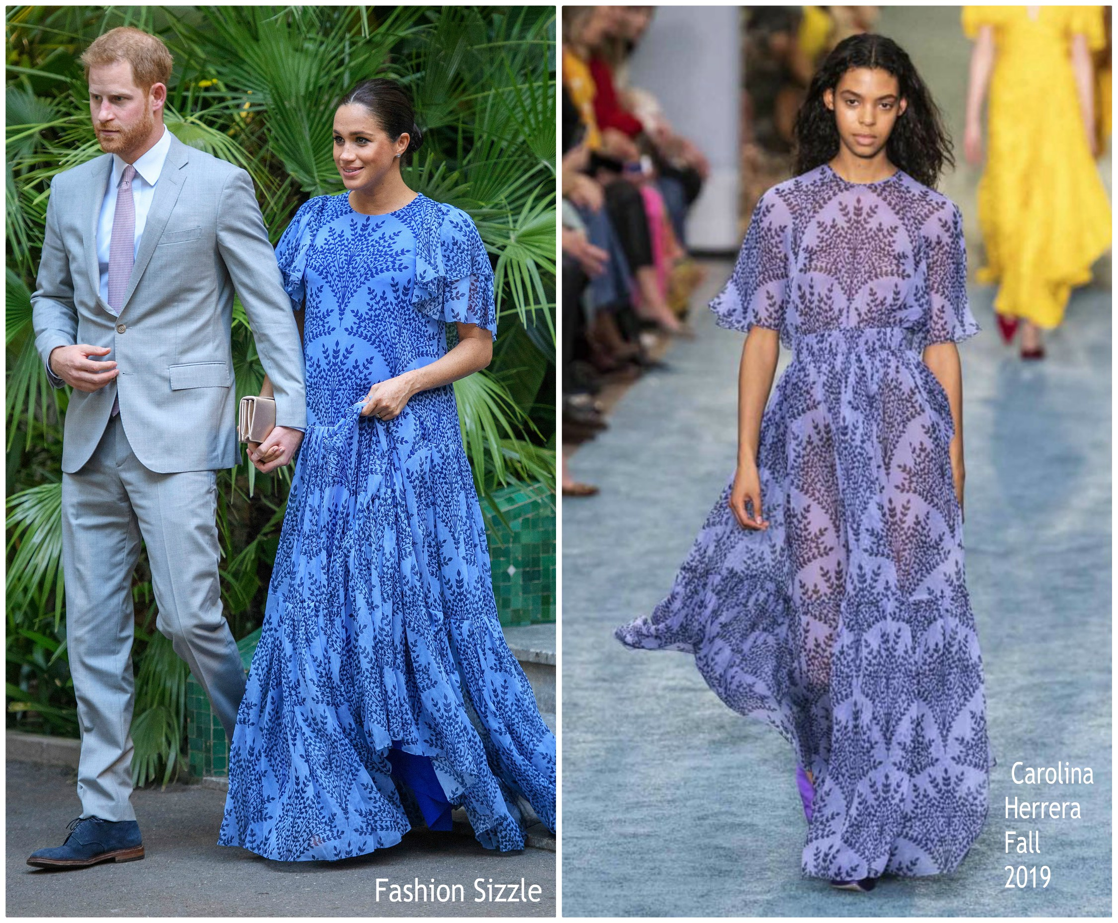 meghan-duchess-of-sussex-in-carolina-herrera-king-mohammed-V1-of-morocco-reception