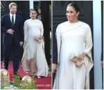 Meghan, Duchess of Sussex In Christian Dior Haute Couture @ British Ambassador Reception