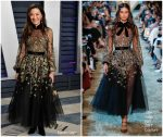 Michelle Yeoh  In Elie Saab Haute Couture  @ 2019 Vanity Fair Oscar Party