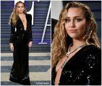 Miley Cyrus In Saint Laurent @ 2019 Vanity Fair Oscar Party