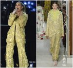 Miley Cyrus   In Valentino  Haute Couture  for Performance With Dolly Parton  @ 2019  Grammy Awards