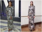Mindy Kaling  In Alberta Ferretti @ 2019 Vanity Fair Oscar Party