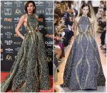 Nieves Alvarez In Elie Saab Haute Couture @ 2019 Goya Awards