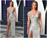 Rosie Huntington-Whiteley In   Atelier Versace  @ 2019 Vanity Fair Oscar Party