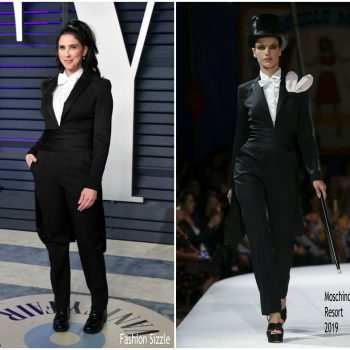 sarah-silverman-in-moschino-2019-vanity-fair-oscar-party
