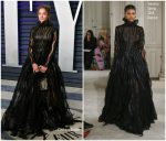Sasha Lane In Valentino Haute Couture @  2019 Vanity Fair Oscar Party