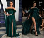 Shay Mitchell In Labourjoisie  @ 2019 Vanity Fair Oscar Party