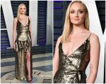 Sophie Turner In LouisVuitton @ 2019 Vanity Fair Oscar Party