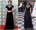 Stacy Martin In Christian Dior Haute Couture  @ 2019 BAFTAs