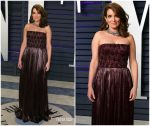Tina Fey  In J. Mendel @ 2019 Vanity Fair Oscar Party