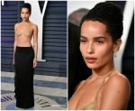 Zoe Kravitz In Saint Laurent @ 2019 Vanity Fair Oscar Party
