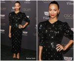 Zoe Saldana  In Erdem @ Cadillac Oscar Week Celebration  2019