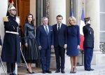 French President Emmanuel Macron Receives King Abdullah II Of Jordan @ Elysee Palace In Paris