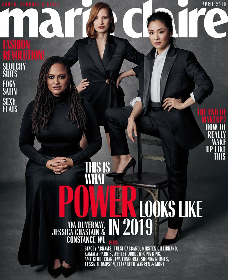 us-marie-claire-april-2019-:-ava-duvernay,-jessica-chastain-&-constance-wu-by-amanda-demme