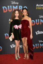Nico Parker (in Gucci) and Thandie Newton (in Oscar de la Renta) @ 'Dumbo' LA Premiere