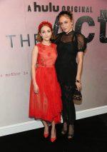 AnnaSophia Robb & Chloë Sevigny, both in Simone Rocha @ 'The Act' New York Premiere