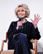 Jane Fonda In LongChamp @  HFPA Film Restoration Summit: The Global Effort to Preserve Our Film Heritage
