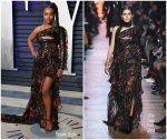 Aja Naomi King In Elie Saab @  2019 Vanity Fair Oscar Party