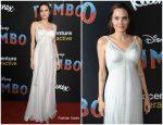 """Angelina Jolie  In Atelier Versace  @  """"Dumbo"""" LA  Premiere"""