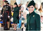 Catherine, Duchess of Cambridge In Alexander McQueen @ The Irish Guards St Patrick's Day Parade