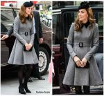 Catherine, Duchess Of Cambridge  In   Catherine  Walker @  King's College London for Opening of Bush House