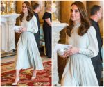 Catherine, Duchess of Cambridge  In Mint Dress @  The 50th Anniversary Of The Investiture Of The Prince of Wales