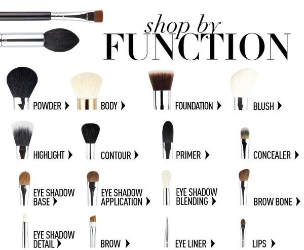 Makeup Types Of Brushes Saubhaya