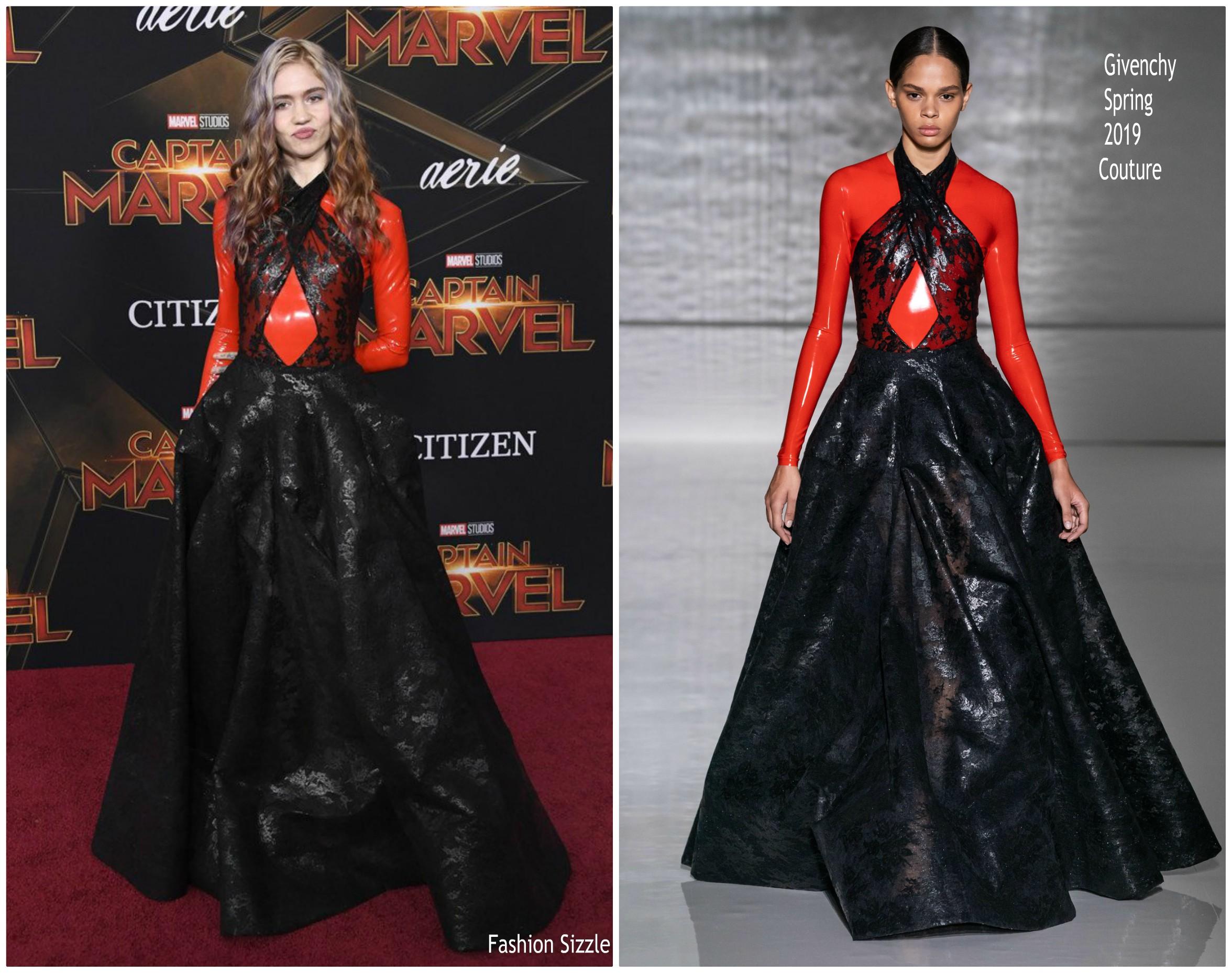 Grimes In Givenchy Haute Couture    Captain Marvel  LA Premiere ... 8334e08f75f
