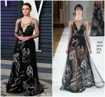 Joey King  In Yanina  Couture @  2019 Vanity Fair Oscar Party
