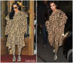 Kim Kardashian  In Vintage Azzedine Alaïa  Out  In Paris